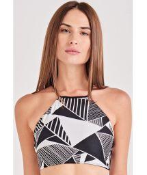 Black & white geometric crop top - TOP CROPPED UMBRELLAS