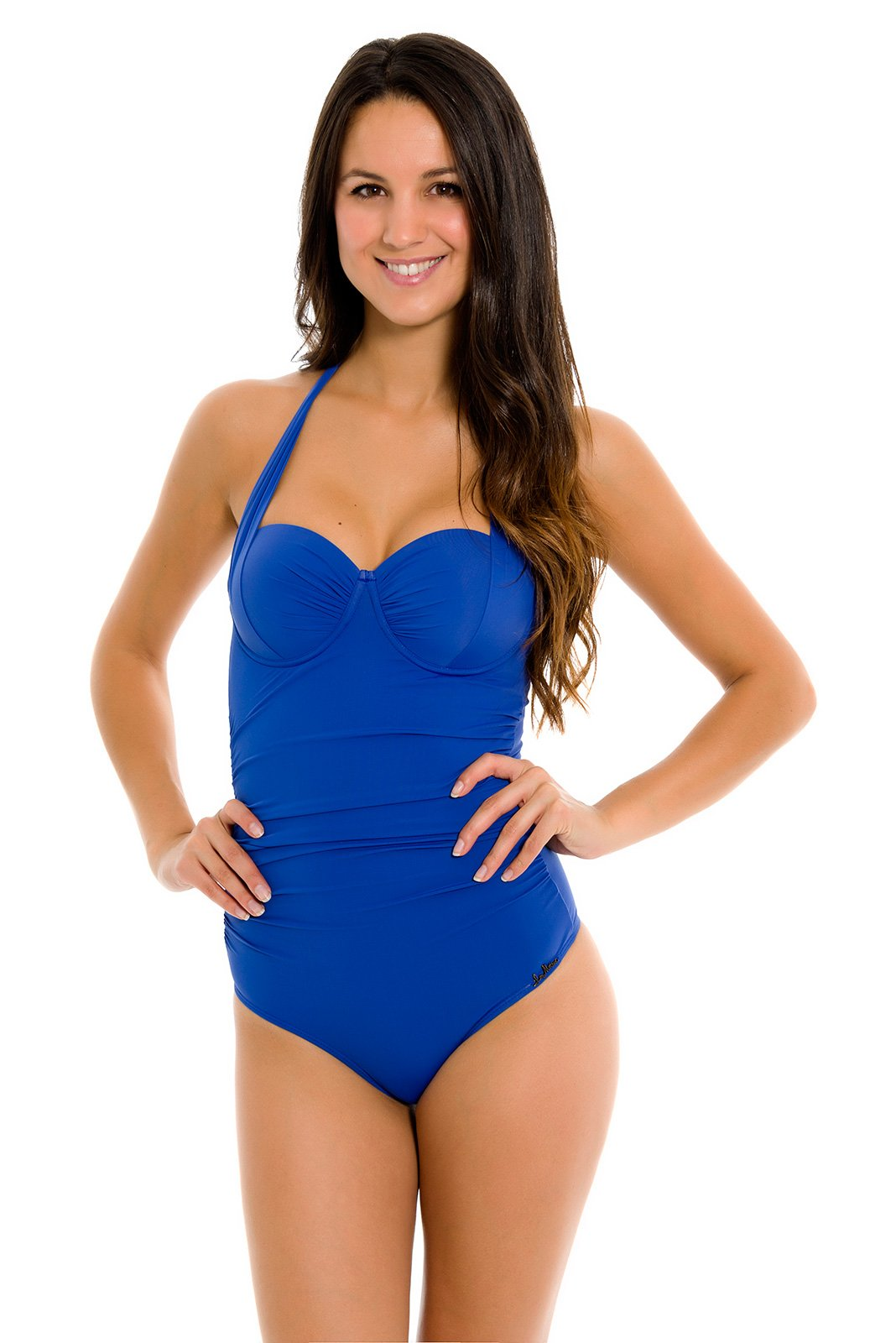 La playa royal blue one piece swimsuit with cups maio royal